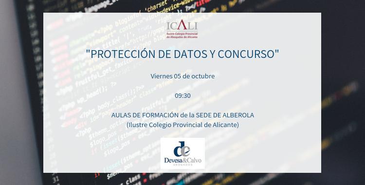 protección de datos y concurso