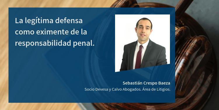 La legítima defensa como eximente de la responsabilidad penal