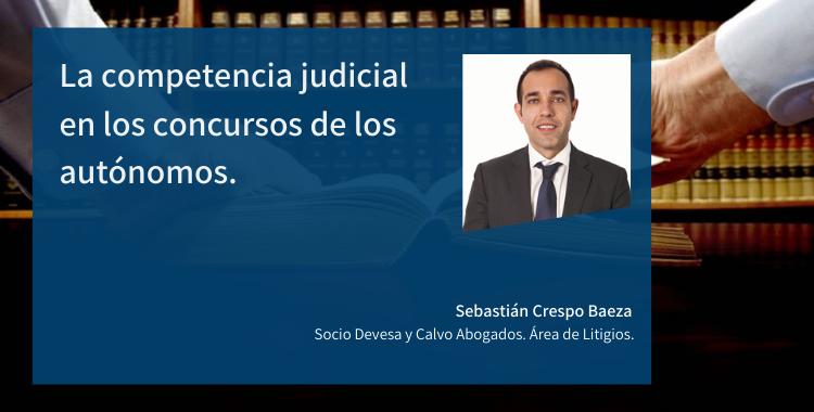 La competencia judicial en los concursos de los autónomos