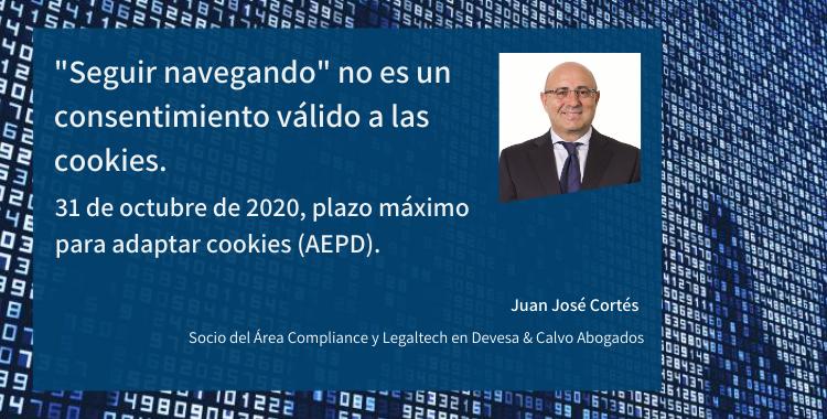 «Seguir navegando» no es un consentimiento válido a las cookies. 31 de octubre de 2020, plazo máximo para adaptar las cookies (AEPD)