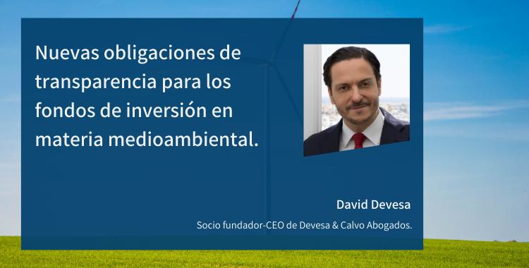 Nuevas obligaciones de transparencia para los fondos de inversión en materia medioambiental